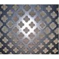 Blacha perforowana stalowa 1 mm / koniczyna / 0,5x1 m.